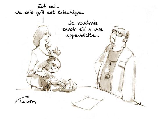 trisomie dessin