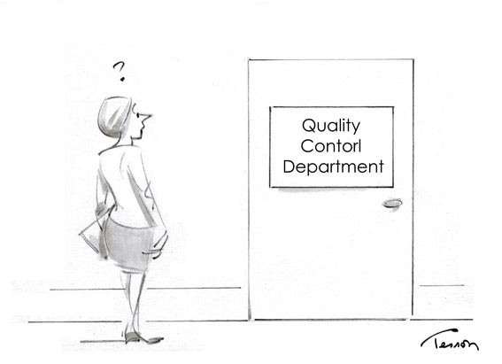 quality control cartoon