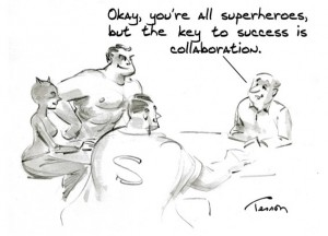 collaboration cartoon