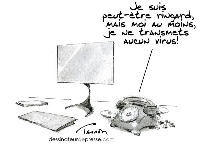 virus cartoon