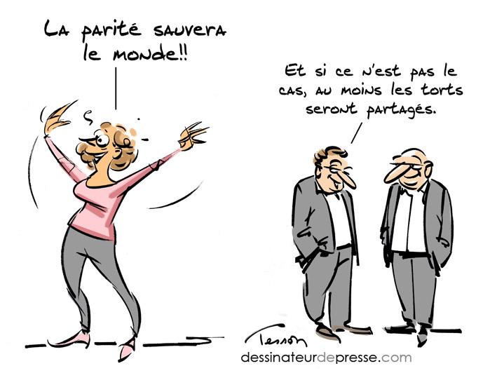 parité dessin humoristique
