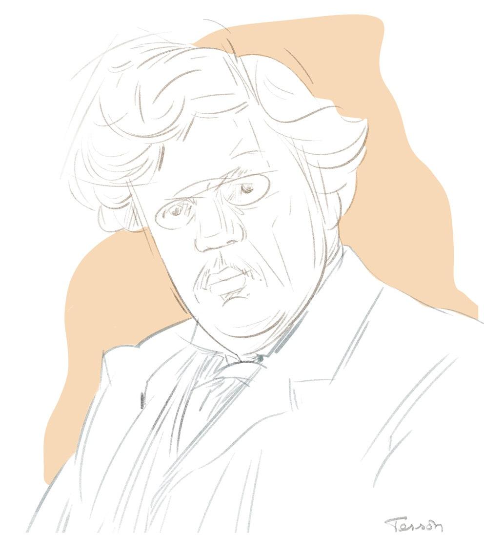 Portrait dessin Chesterton