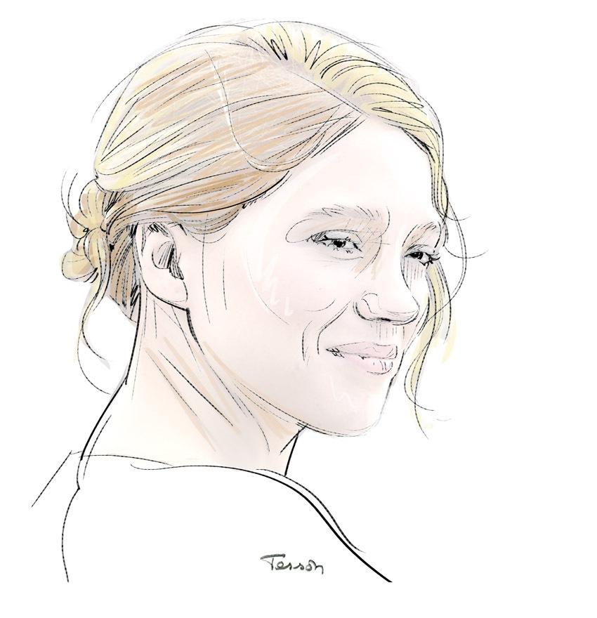 Léa Seydoux, portrait dessin