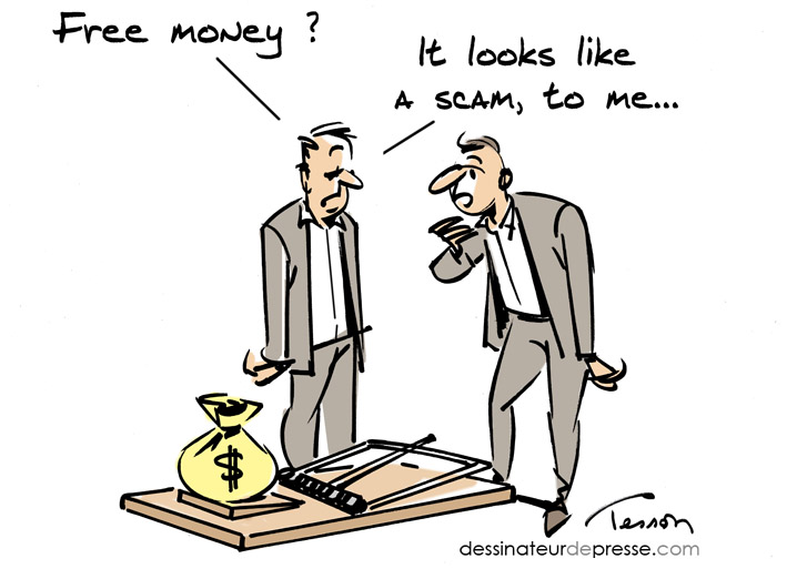 cartoon scam