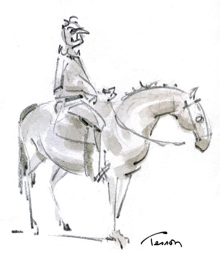 dessin de cavalier