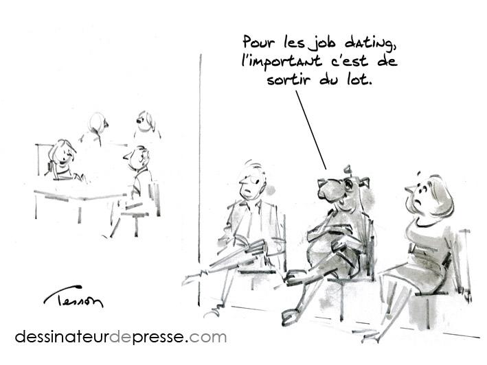 recrutement dessin humoristique