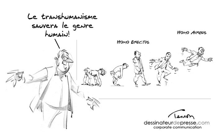 transhumanisme humour dessin