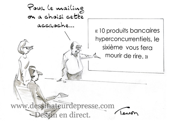 Marketing dessin humoristique