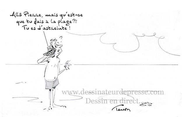 Vacances dessin humoristique
