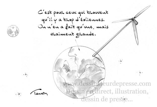 Eolien dessin humoristique