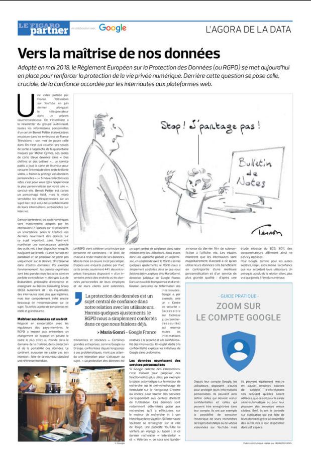 Avec Google et dans le Figaro