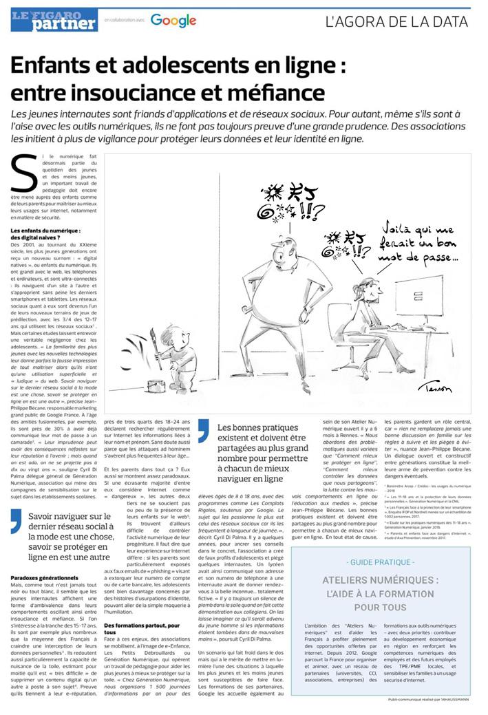 Dessin dans le Figaro, en partenariat avec Google.