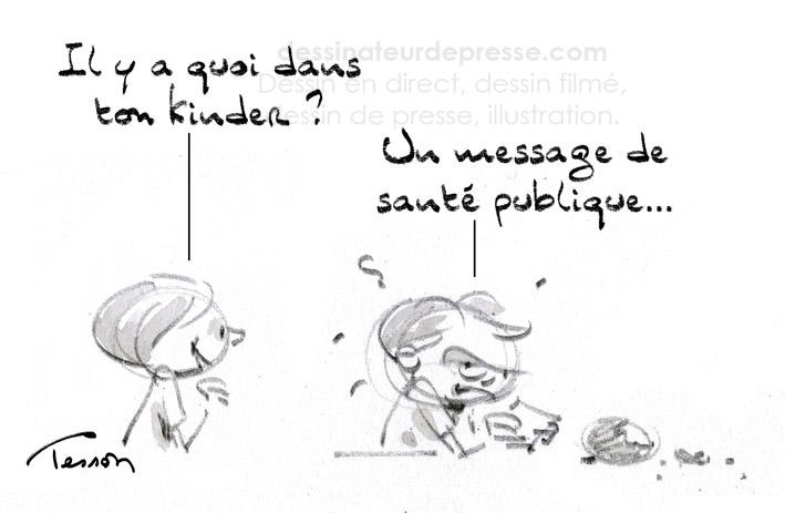 Alimentation sucrée, dessin humoristique