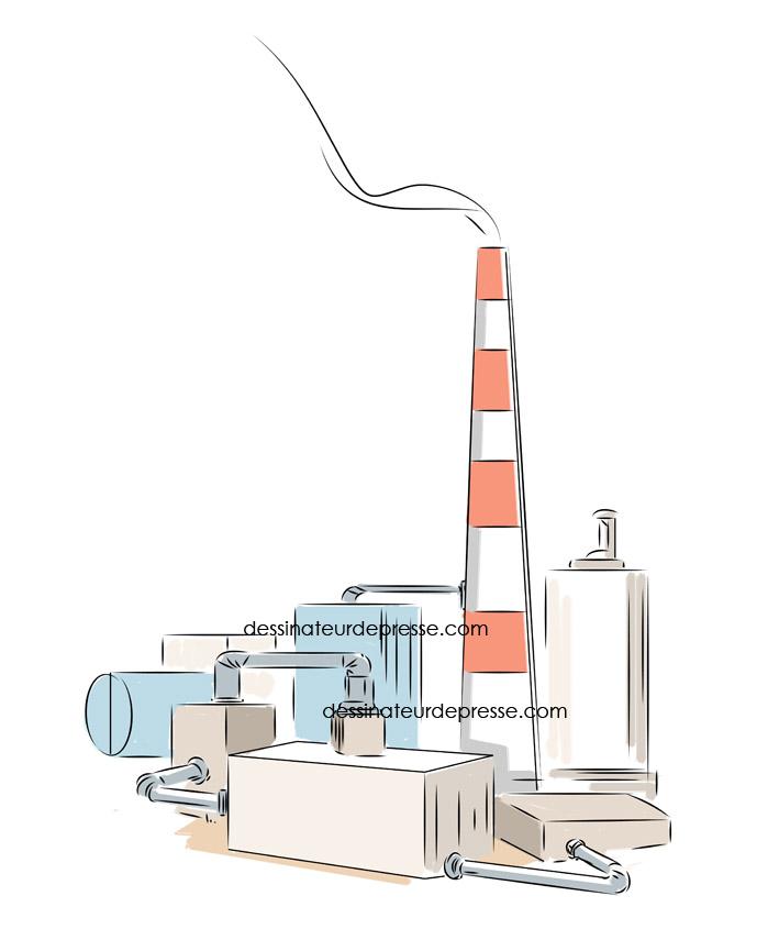 Illustration pour le BTP et les raffineries.