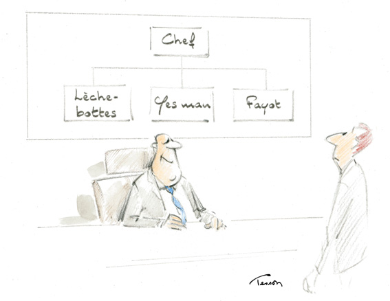 Leadership dessin humoristique