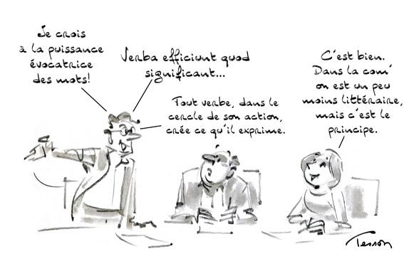 Communication dessin humoristique
