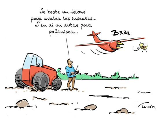 Pesticide, dessin de presse.