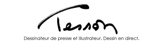 Dessinateur de presse et illustrateur. Dessin en direct.