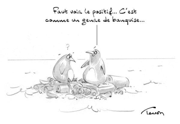 Pollution plastique dessin de presse