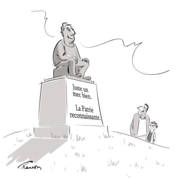 Morale dessin de presse, dessin humoristique