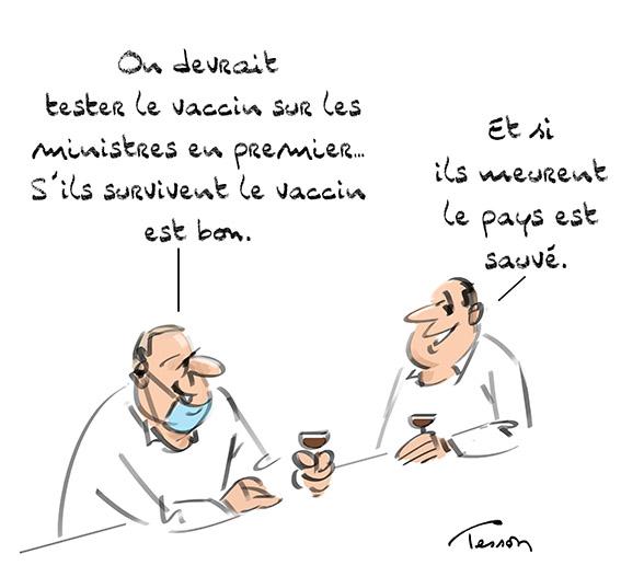 Vaccin dessin de presse