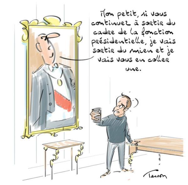 Dessin de presse Macron